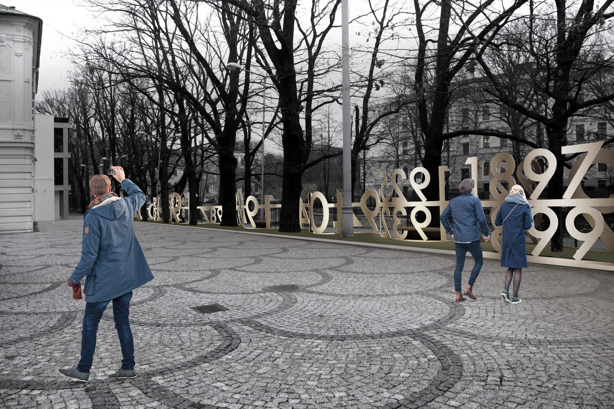 """Pie Latvijas Nacionālā teātra veidos aleju ar nosaukumu """"Laika priekškars"""""""