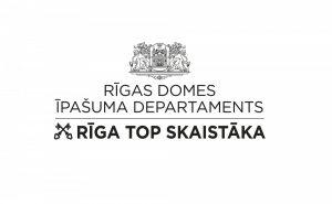 Logo - Rīgas domes Īpašuma departaments Rīga top skaistāka