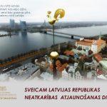 Sveicam Latvijas Republikas Neatkārības atjaunošanas dienā!