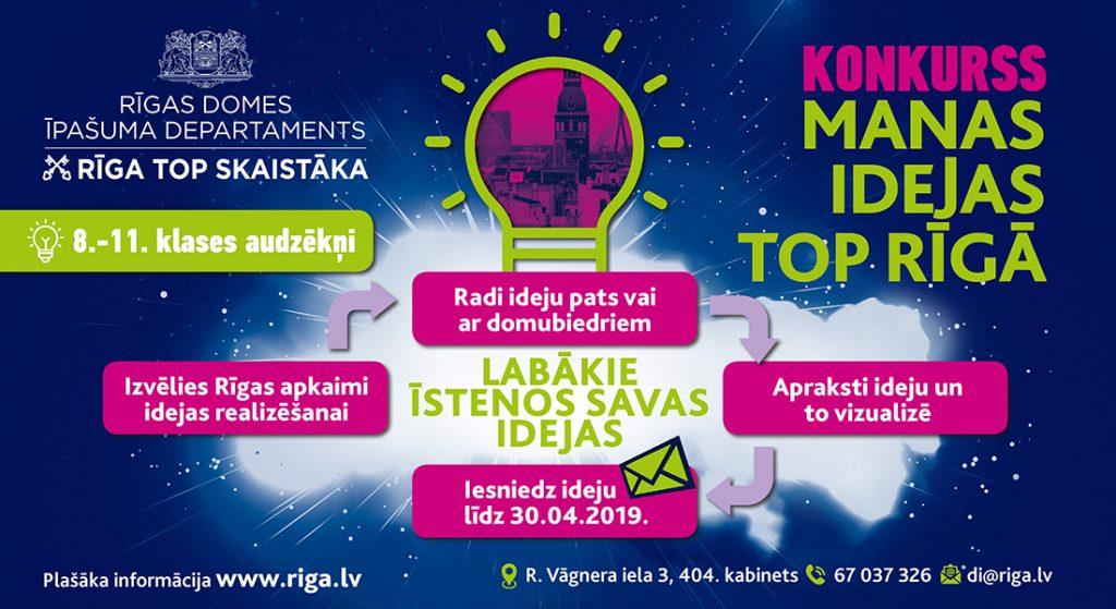 """25.03.2019.-Ideju konkurss """"Manas idejas top Rīgā"""""""