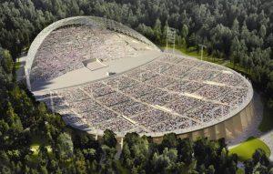 Mežaparka Lielās estrādes pārbūves pabeigšanai nepieciešamos līdzekļus Rīgas dome varēs aizņemties Valsts kasē