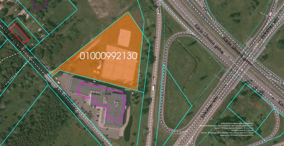 Elektroniskā izsolē ar augšupejošu soli tiek pārdots neapbūvēts zemesgabals Mūkupurva ielā 1A, Rīgā (Pārdaugavā)