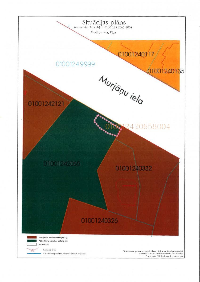 Sludinājums par neapbūvēta zemesgabala Malienas ielā 60, Rīgā (kadastra apzīmējums 0100 124 2065 8004) atkārtotu nomas tiesību izsoli