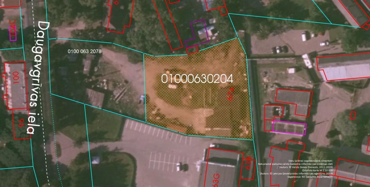 Elektroniskā izsolē ar augšupejošu soli tiek pārdots neapbūvēts zemesgabals Daugavgrīvas ielā 67A, Rīgā (Dzirciemā)