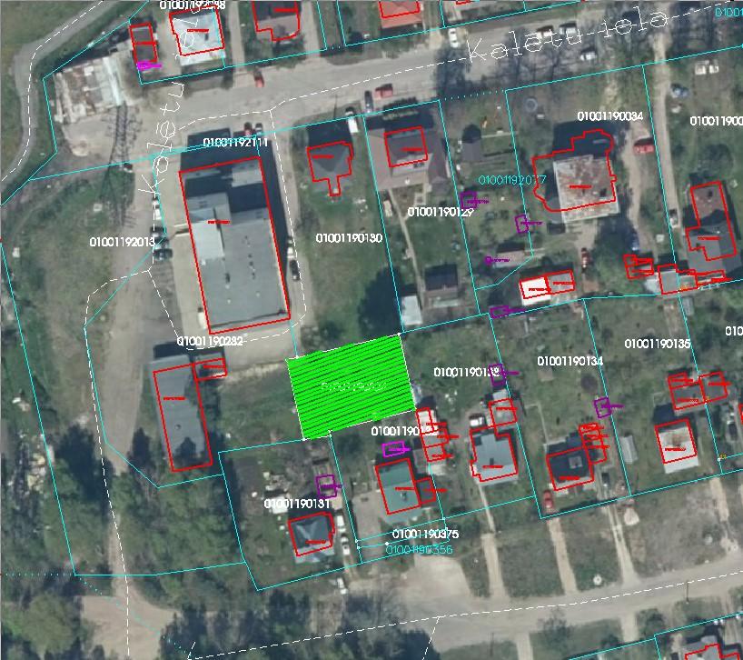 Zemes starpgabals Kazdangas ielā 19A, Rīgā (kadastra Nr.01001190431; kadastra apzīmējums 01001190324)