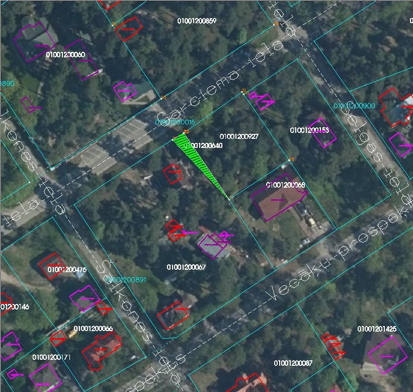Zemes starpgabals Garciema ielā, Rīgā (kadastra Nr.01001201132; kadastra apzīmējums 01001200640)