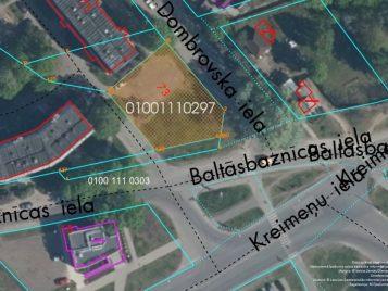 Neapbūvēts zemesgabals Augusta Dombrovska ielā 73, Rīgā (Vecmīlgrāvī) - Ortofoto