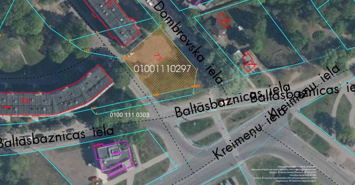 Neapbūvēts zemesgabals Augusta Dombrovska ielā 73, Rīgā (Vecmīlgrāvī)