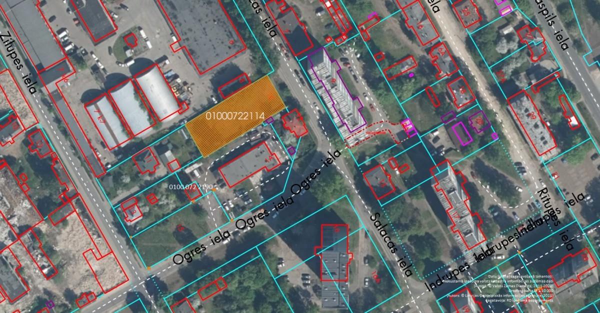 Elektroniskā izsolē ar augšupejošu soli tiek pārdots neapbūvēts zemesgabals Salacas ielā 10, Rīgā (Maskavas forštatē)