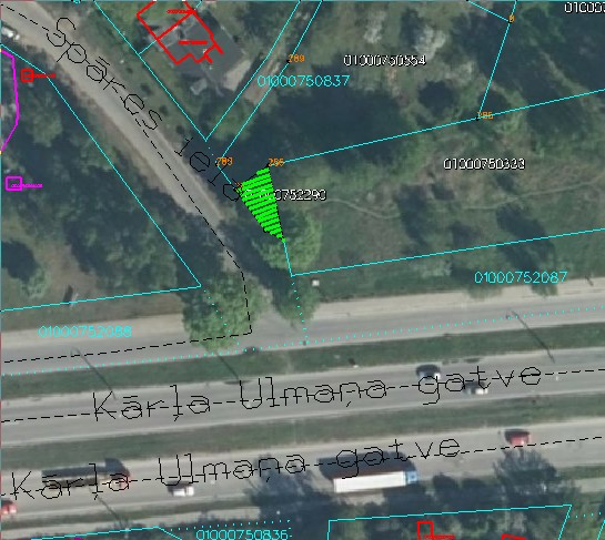 Zemes starpgabals Spāres ielā, Rīgā (kadastra apzīmējums 0100 075 2290)
