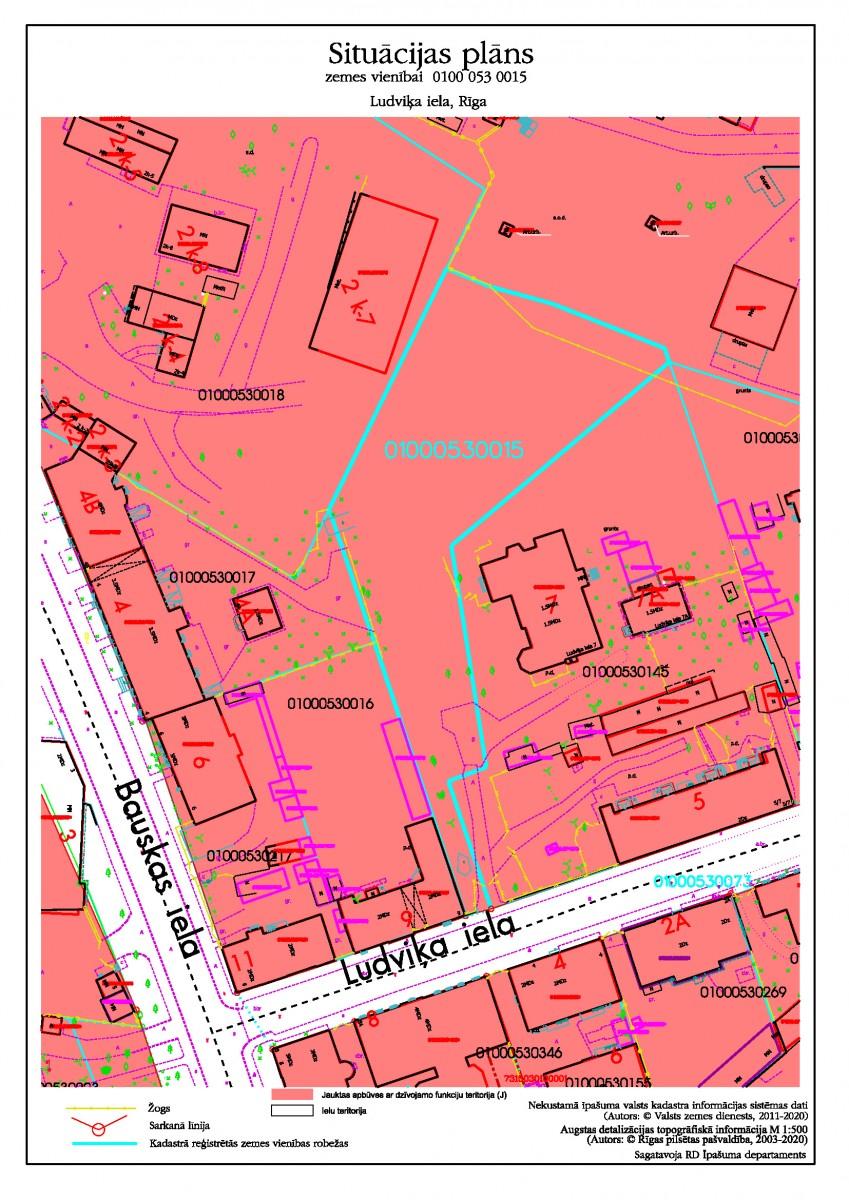 Neapbūvēta zemesgabala bez adreses, Ludviķa ielā, Rīgā (kadastra apzīmējums 0100 053 0015), atkārtota nomas tiesību izsole