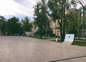 Pie Latvijas Nacionālā māksla muzeja izvietos skeitbordam paredzētus vides objektus izcelta bilde