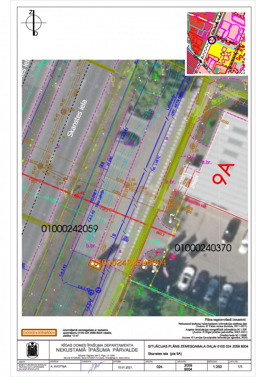 Sludinājums par neapbūvēta zemesgabala bez adreses, Skanstes ielā, Rīgā, kadastra apzīmējums 0100 024 2059 8004, atkārtotu nomas tiesību izsoli
