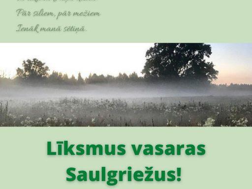 Līksmus vasaras Saulgriežus!