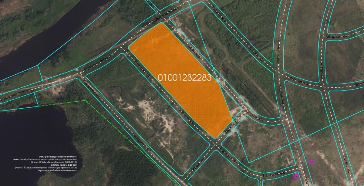 Elektroniskā izsolē ar augšupejošu soli tiek pārdots neapbūvēts zemesgabals Pie Mazās Juglas, Rīgā (Brekšos) kadastra apzīmējums 0100 123 2283