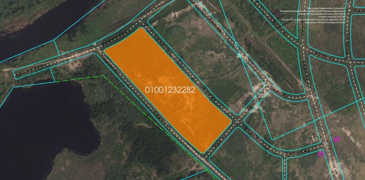 Elektroniskā izsolē ar augšupejošu soli tiek pārdots neapbūvēts zemesgabals Pie Mazās Juglas, Rīgā (Brekšos) kadastra apzīmējums 0100 123 2282