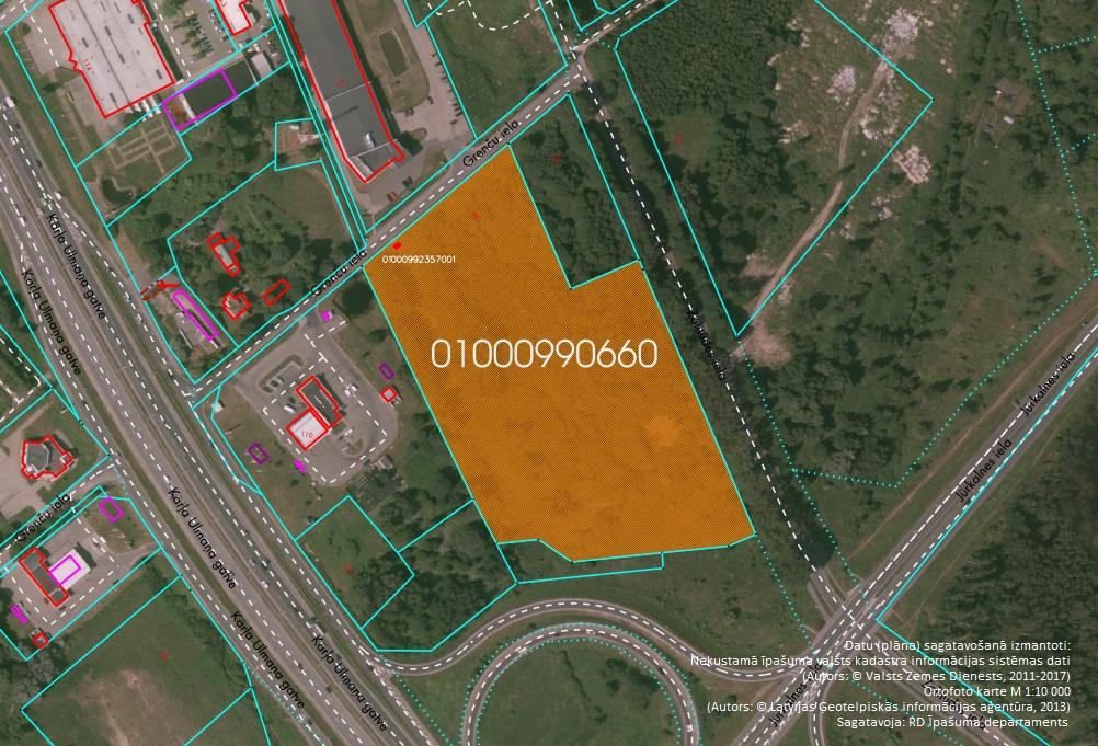 Elektroniskā izsolē ar augšupejošu soli tiek pārdots neapbūvēts zemesgabals Grenču ielā 2E, Rīgā (Zolitūdē)