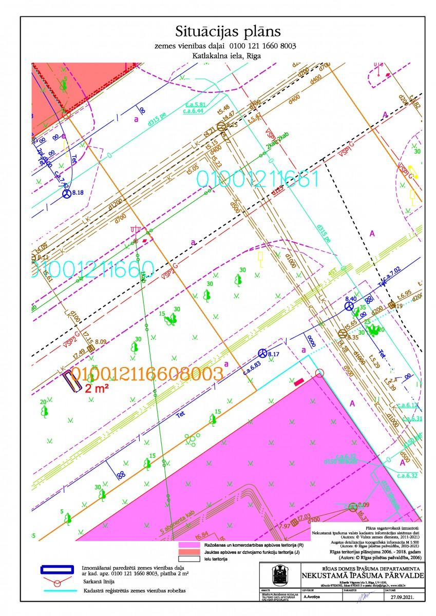 Neapbūvēta zemesgabala bez adreses, Katlakalna ielā, Rīgā, kadastra apzīmējums 0100 121 1660 8003, pirmā nomas tiesību izsole